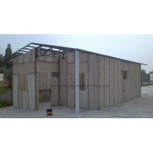 Long Life Time Light Steel Structure Cement Board Villa House