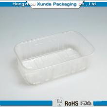 Bandeja de embalaje de alimentos congelados dividida en plástico desechable