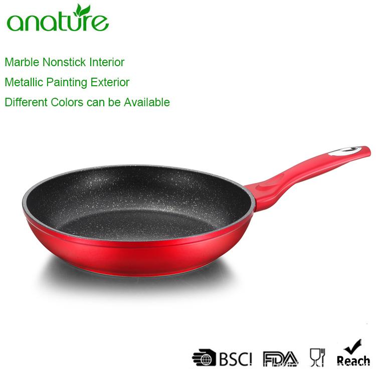 Commercial Burgundy Elegant Metallic Line Aluminum Cookware