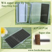 Super slim easy-grip espuma fly box