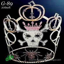 pumpkins spider skeleton rhinestone pageant tiara