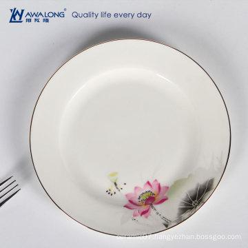 elegance lotus design ceramic plate bone china dish crockery tableware