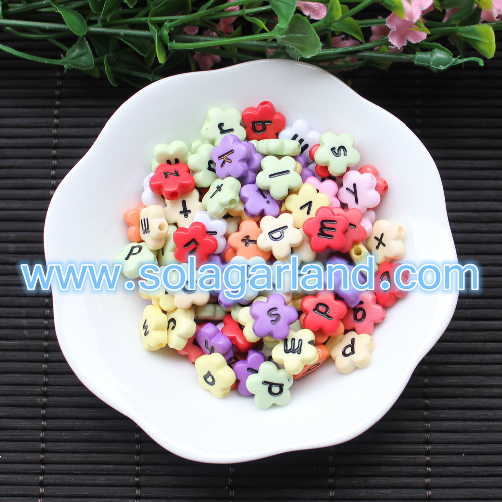 Colorful Flower Letter Beads