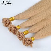 Großverkauf der Fabrik Schöne ich Tip 100% echte Jungfrau brasilianische Haarverlängerung für Frauen