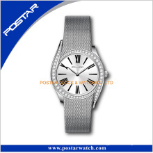 316L Stainless Steel Mesh Band Diamond Wrist Watch