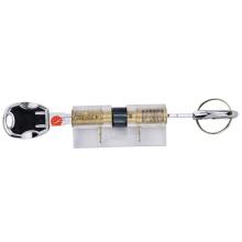 Прозрачный практика лезвие цилиндр замка ядро с Multi-д отслеживает ключи