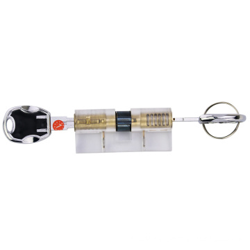 Transparent Practice Blade Cylinder Lock Core with Multi-D Tracks Keys