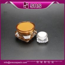 SRS China frasco contêiner cosméticos de forma de diamante para cuidados com a pele