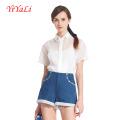 Camisa de manga curta Casual de moda de mulheres