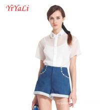 Women Fashion Casual Short Sleeve Shirt