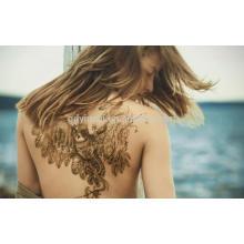 2017 novos projetos sexy de volta tatuagem adesivo para as mulheres