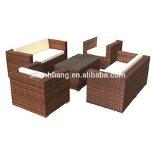 Comfortable outdoor PE rattan wicker furniture patio sofa set