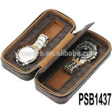 leather watch box for 2 watches from China factory high quality