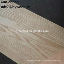 Chapa de madera cortada cara de madera de los troncos del roble rojo cortado en cuartos para el gabinete
