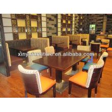 Table et chaise de restaurant en bois moins chère XDW1258