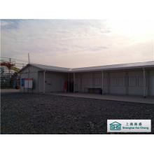 Edificio modular de la casa prefabricada del techo de la cuesta con diseño flexible (SHS-mh-camp034)