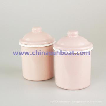 Sunboat Enamel Cup Tableware Kitchenware/ Kitchen Appliance Enamel Sugar Storage Tank Enamel Mug Jar