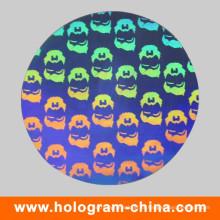 Etiqueta de prata antiquado do holograma do laser de