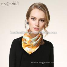 Small square neck scarf for pure silk cheap wholesale bandanas