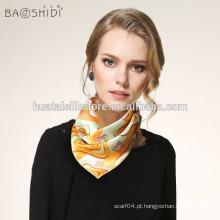 Pequeno lenço de pescoço quadrado para bandanas de seda pura barato por atacado