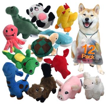 Squeaky Plush Dog Toy Pack para filhote de cachorro