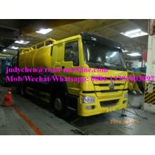 Тележки HOWO 4х2 15000Л сточных вод всасывания грузовик