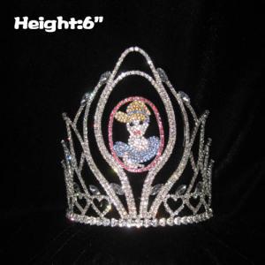 6 pulgadas de altura Belleza única Coronas de princesa Alicia