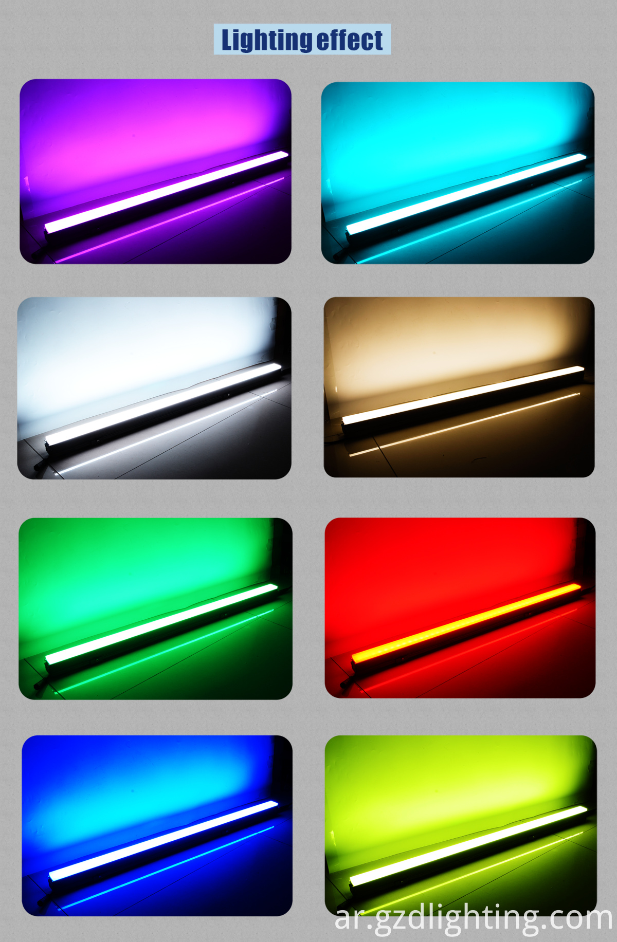 led bar light lighting effect