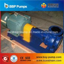 Pompe centrifuge chimique doublée en plastique fluoré