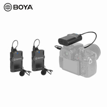 BOYA BY-WM4 PRO-K2 Wireless Microphone Compatible with Smartphones DSLR Cameras Camcorders