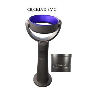 Precio de fábrica Control remoto infrarrojo Tall Floor Stand Sin aspas Ventilador Gris Azul con pantalla táctil LED