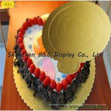 Bandeja de pasteles vendedora caliente 2016 de la torta del oro con el SGS (B & C-K023)