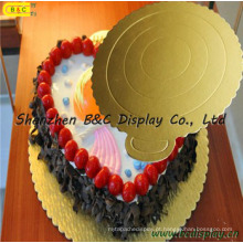 2016 venda quente ouro mono bolo pastelaria bandeja com SGS (B & C-K023)