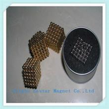 Vergoldung Jewelly Magnet der seltenen Erde Bead