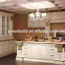 Design de armário de cozinha de madeira pré-fabricada