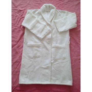 100%cotton waffle terry shawl collar bathrobe