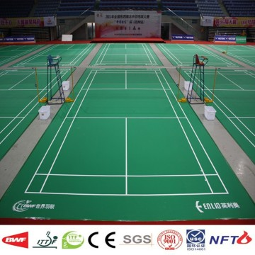 BWF genehmigt Mobile Badminton Court Flooring