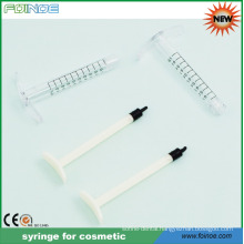 disposable plastic syringe for cosmetic