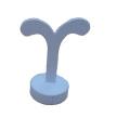 White PU Jewelry Earring Tree Display Wholesale (ES-WL-V1)