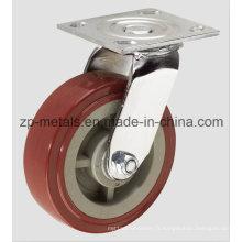 Roulette pivotante en polyuréthane pour service intensif