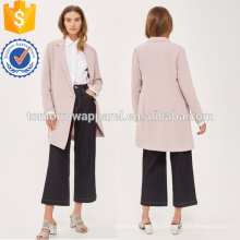 Chaqueta rosada asimétrica asimétrica OEM / ODM Fabricación al por mayor de las mujeres de la manera de la ropa (TA7004J)