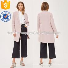 Jaqueta de divisão assimétrica rosa OEM / ODM fabricação atacado moda feminina vestuário (TA7004J)