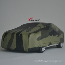 Water-Proof Sedan Cover Anti-UV Elastic Camouflage Outdoor Car Cover Printing Auto Cover
