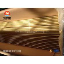 Alta calidad ASTM B111 C44300 tubo sin soldadura de aleación de cobre