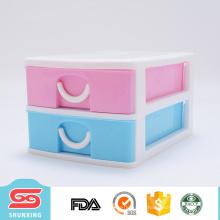 Caixa da gaveta do armazenamento do organizador do armário da mesa da camada de 2 plásticos para o uso do escritório