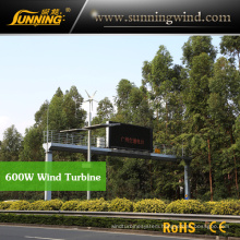 Residential Wind Generator 600W Wind Turbine Permanent Magnet Generator Home Use