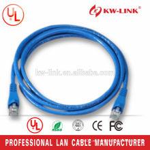 5 pies 26AWG trenzado CCA UTP Cat6 Patch Cord Azul