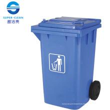 100L / 120L / 240L Side-rueda de basura de plástico de basura