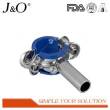 Support de tuyauterie en acier inoxydable sanitaire avec insert bleu