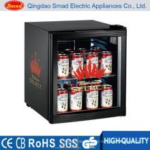 Refrigerador pequeno da exposição da porta de vidro do tampo da mesa do refrigerador da exposição